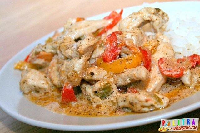 Филе курицы с овощами в сливочном соусе (300 гр.)