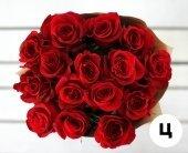 Букет 15 красных роз премиум