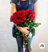 Букет 19 длинных роз