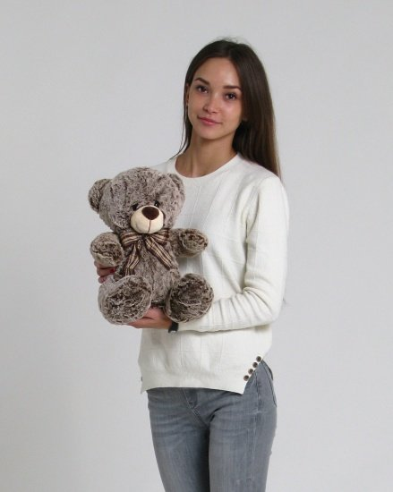Медведь с бантом 40 см