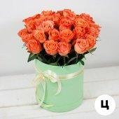 Коробка M с розами