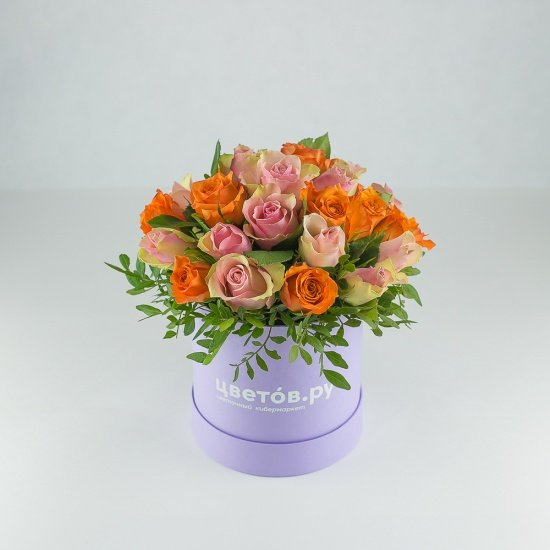 Коробка S с розами