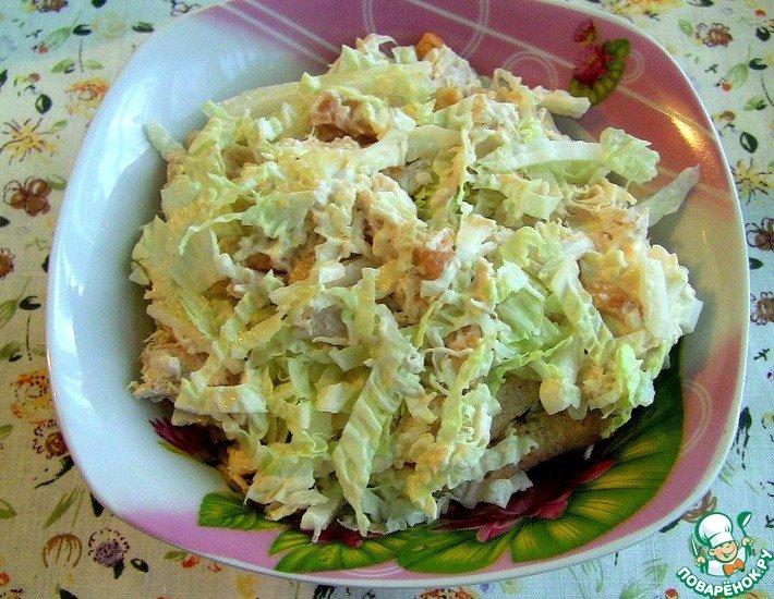 Нежный салат с курицей